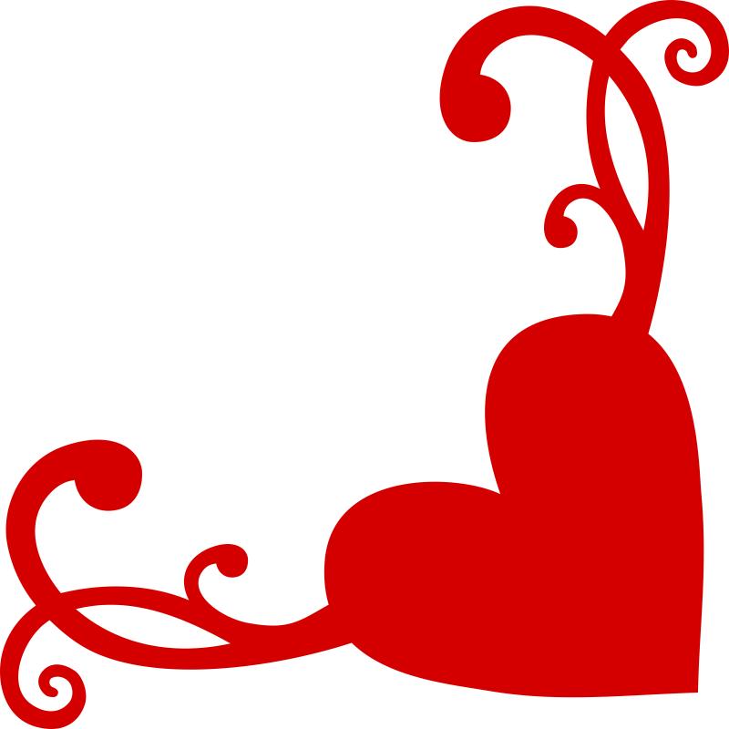 Heart Flourish Corner Free CDR Vectors Art