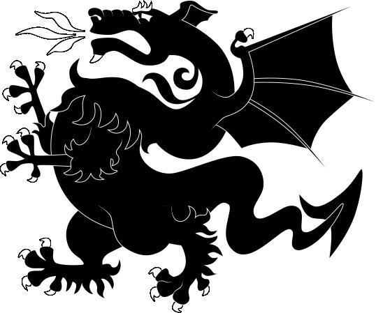 Heraldric Dragon Animal Free CDR Vectors Art