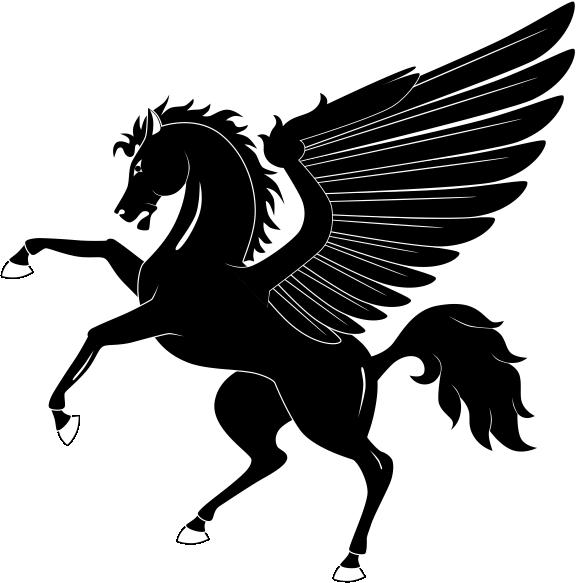 Heraldric Animal With Wings Free CDR Vectors Art
