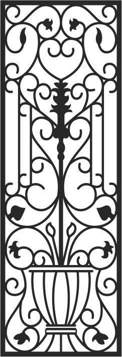 Iron Gate Pattern Free CDR Vectors Art