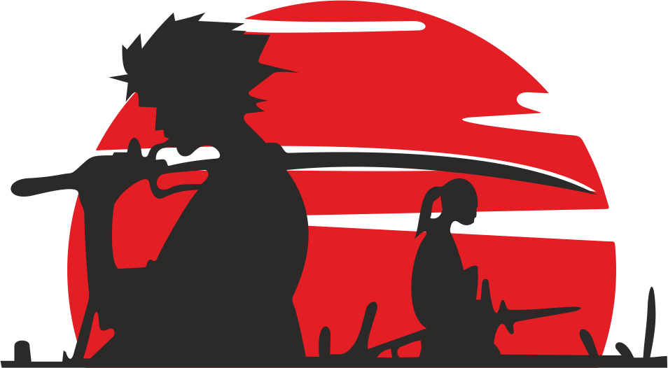 Samurai Car Sticker Free CDR Vectors Art