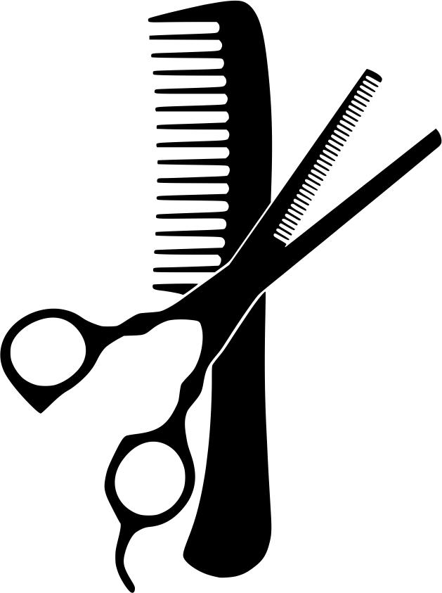 Hairdresser Comb And Scissors Free CDR Vectors Art