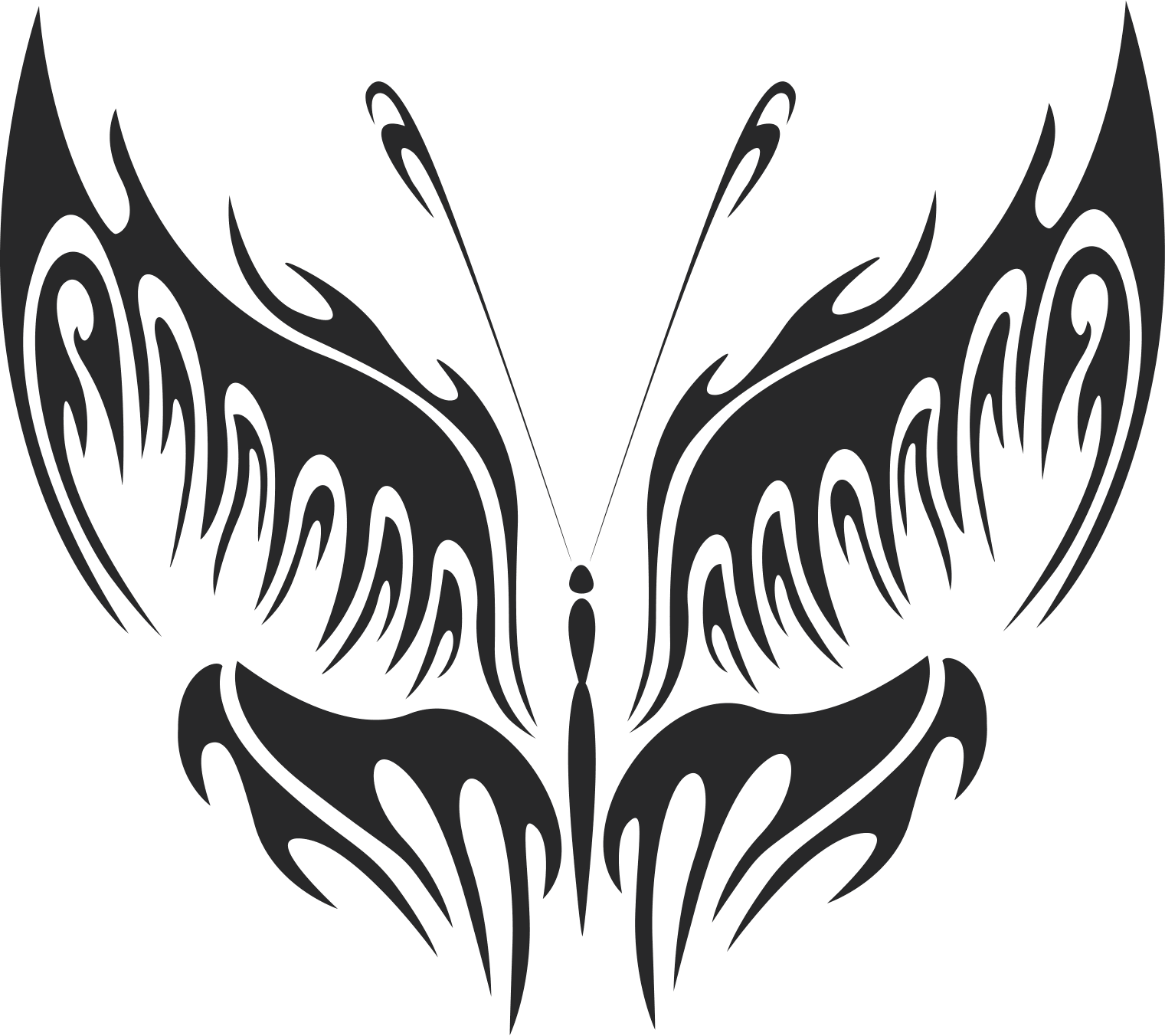 Butterfly Silhouette Art Free CDR Vectors Art