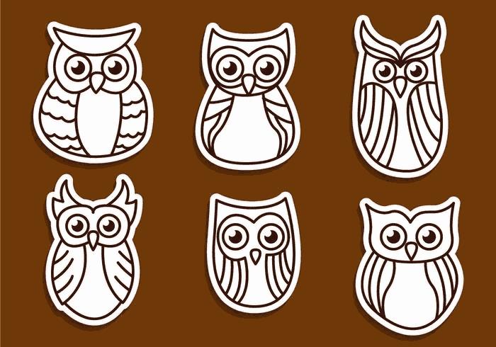 Sovy Owls Free CDR Vectors Art