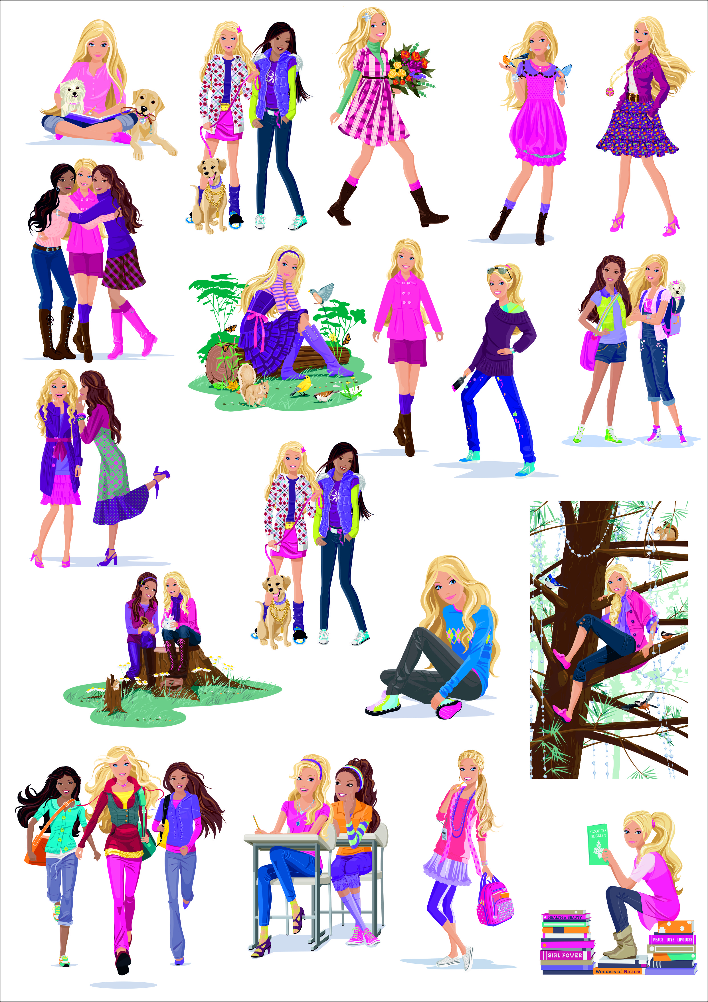 Barbie Doll Vector Collection Free CDR Vectors Art