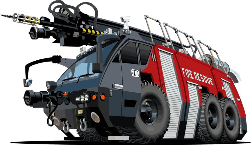 Fire Rescue Truck Free CDR Vectors Art