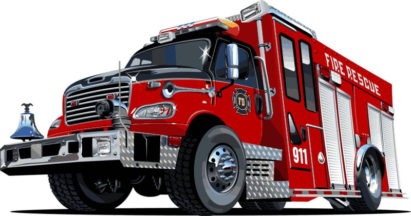 Fire Rescue Truck 911 Free CDR Vectors Art