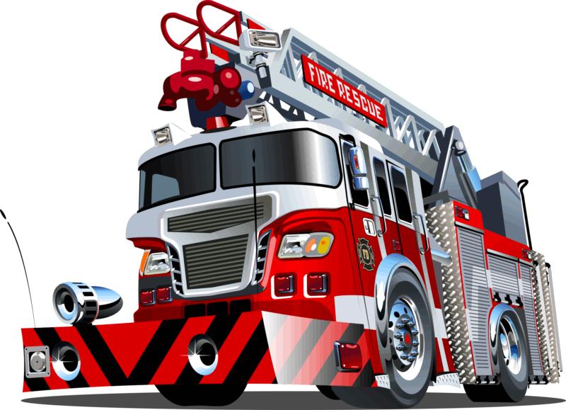 Robust Fire Rescue Truck Free CDR Vectors Art
