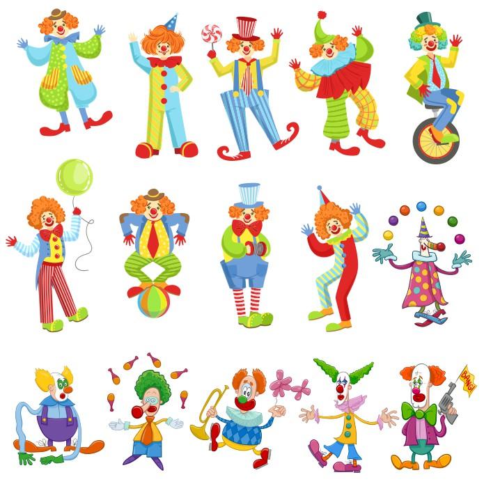 Funny Clowns Children Clipart Free CDR Vectors Art