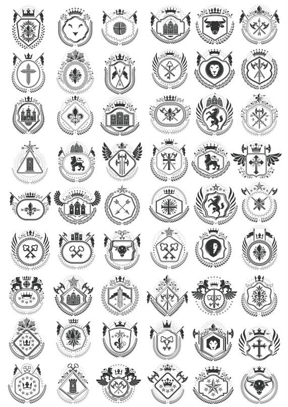 Heraldic Logo New Collection Free Free CDR Vectors Art