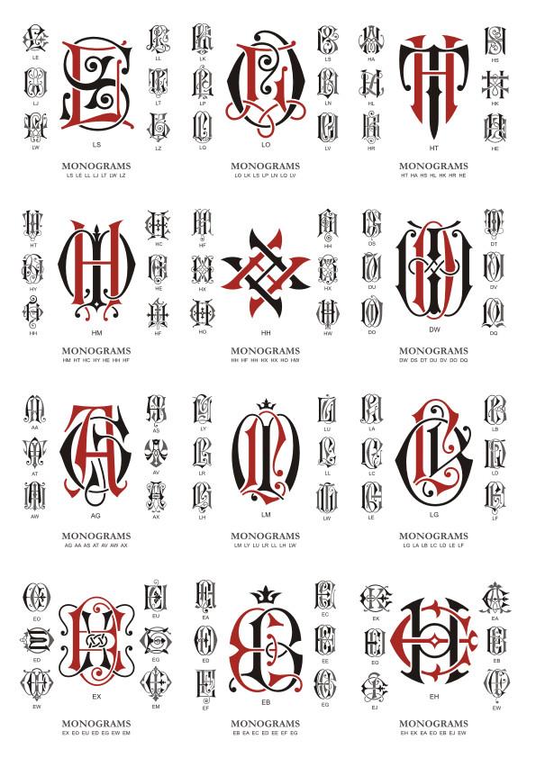 Monogram Large Collection Download Free CDR Vectors Art