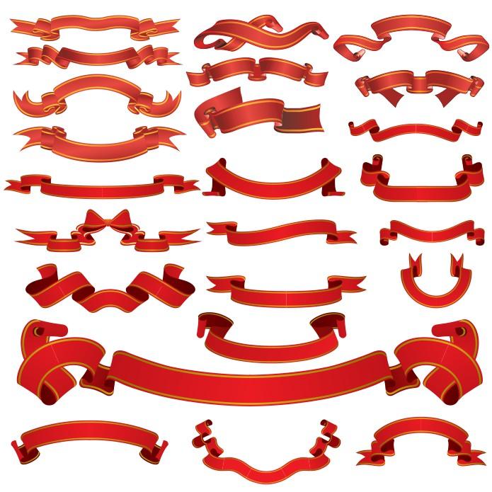 Red Ribbon Vector Download Free CDR Vectors Art