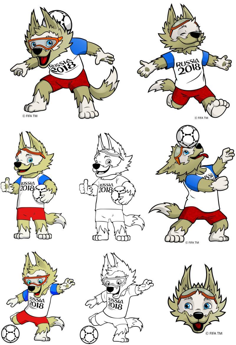Symbol Of The World Cup 2018 Wolf Zabivaka CDR Vectors Art