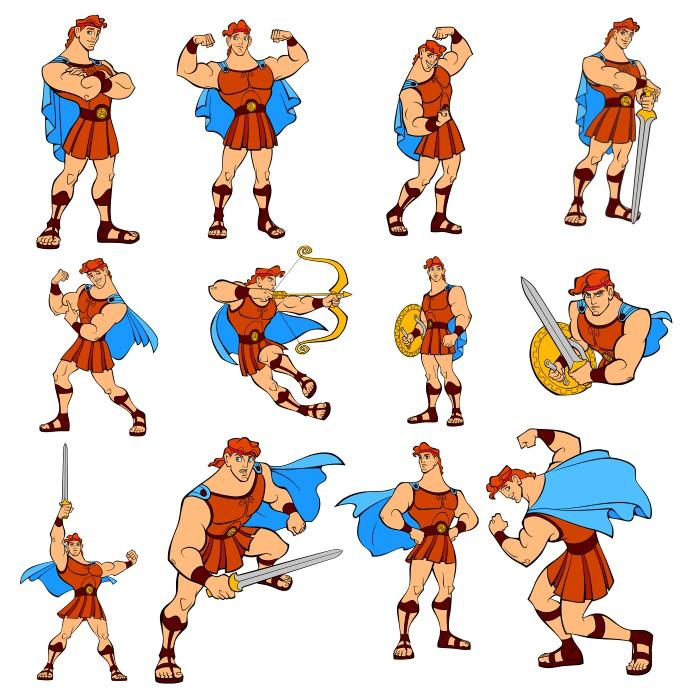 """The Main Character From Cartoon """"hercules"""" Free CDR Vectors Art"""