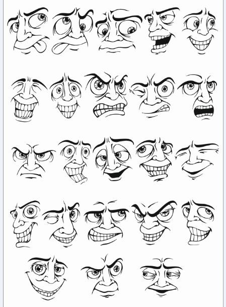 Face Vector Mens Smileys Free CDR Vectors Art