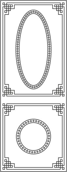 Pattern Door s-013 Free CDR Vectors Art