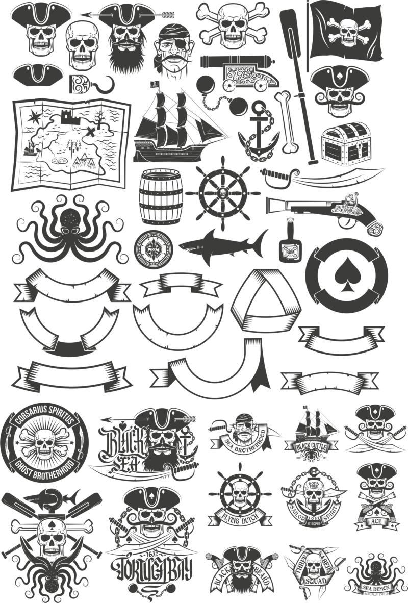 Pirates Emblem Vector Images Download Free CDR Vectors Art