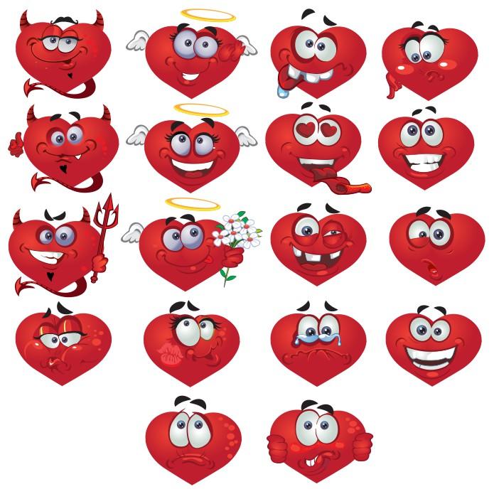 Smileys Hearts Big Vector Collection Free CDR Vectors Art