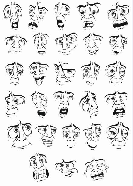 Smileys Mens Facial Expression download! Free CDR Vectors Art
