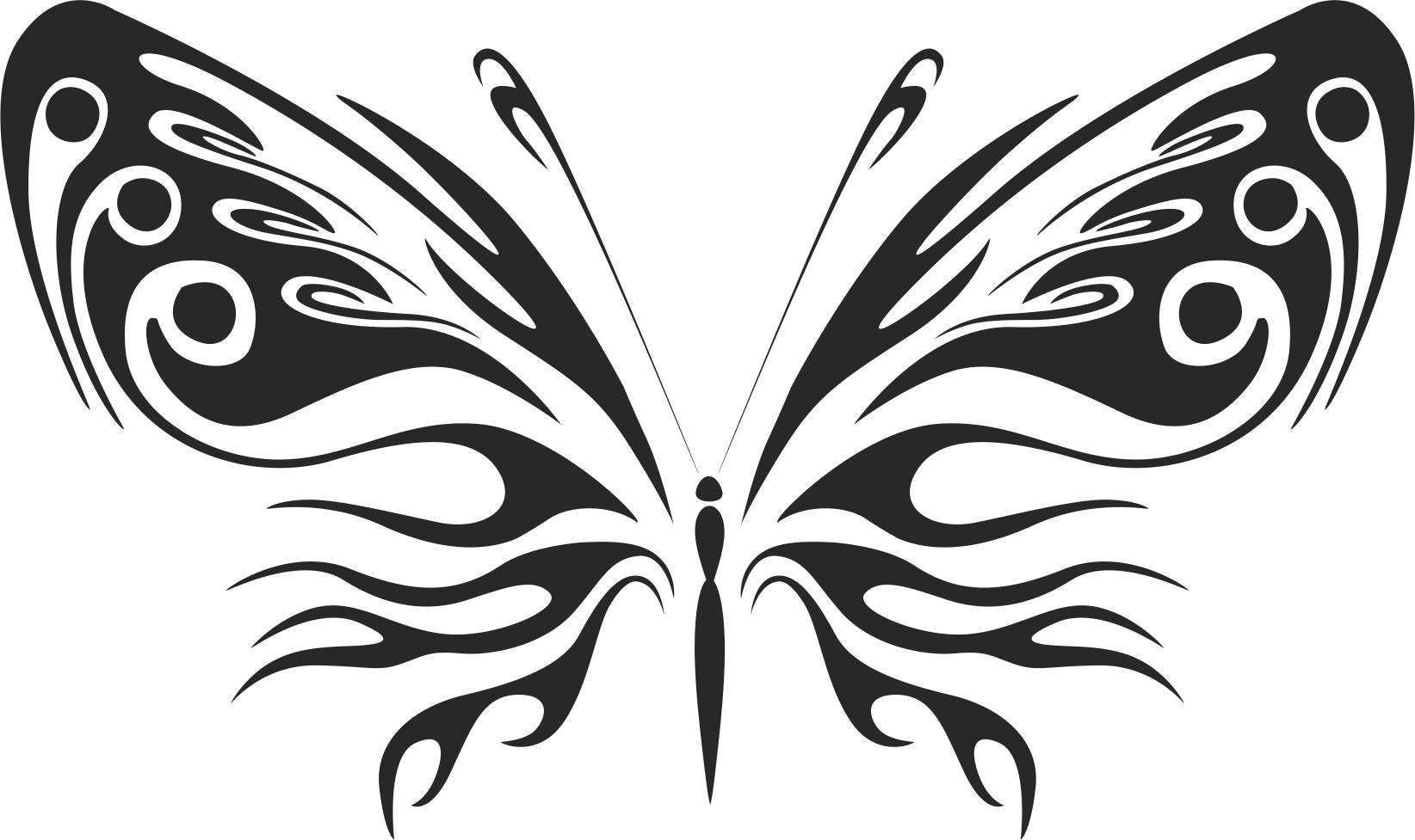 3D butterfly wall sticker black Free CDR Vectors Art