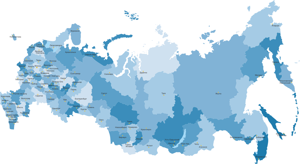 Russia Map Highly Detailed Free CDR Vectors Art