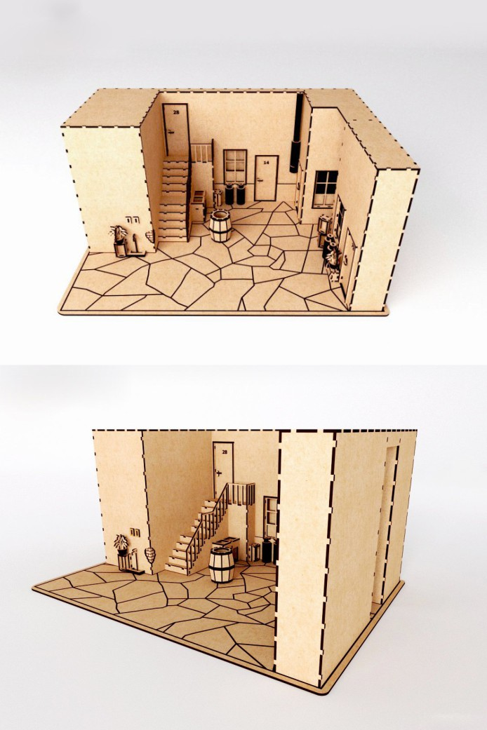 A Doll House Model  A Decoration For A Game Or A Cartoon Free CDR Vectors Art