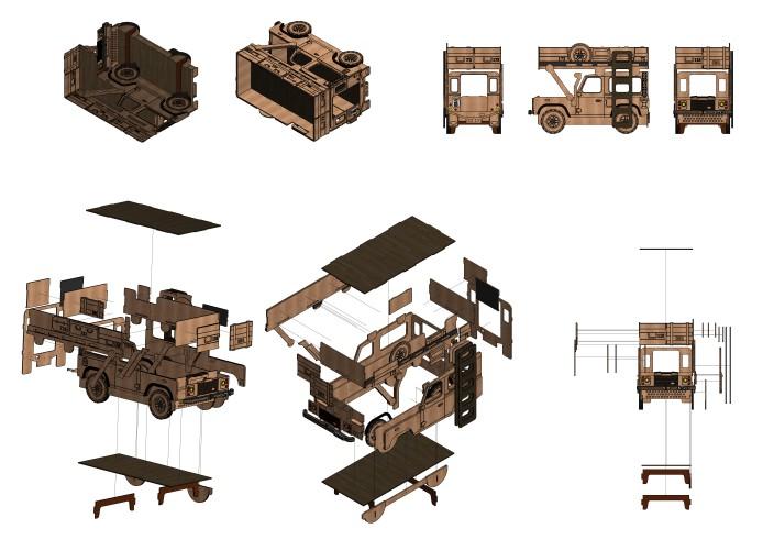 "Drawing Of A children's Bunk Bed ""range rover"" For стс Machiner Free CDR Vectors Art"