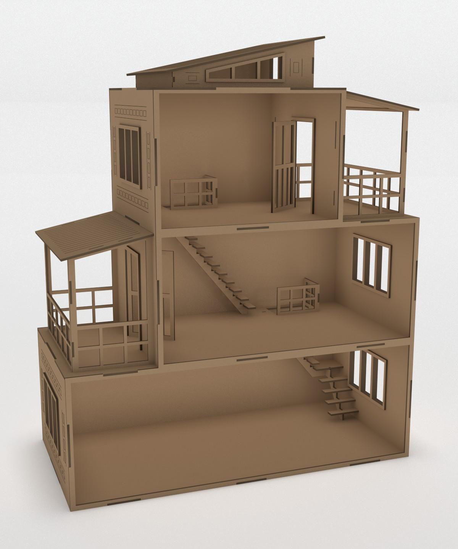 Dollhouse vector layout Free CDR Vectors Art