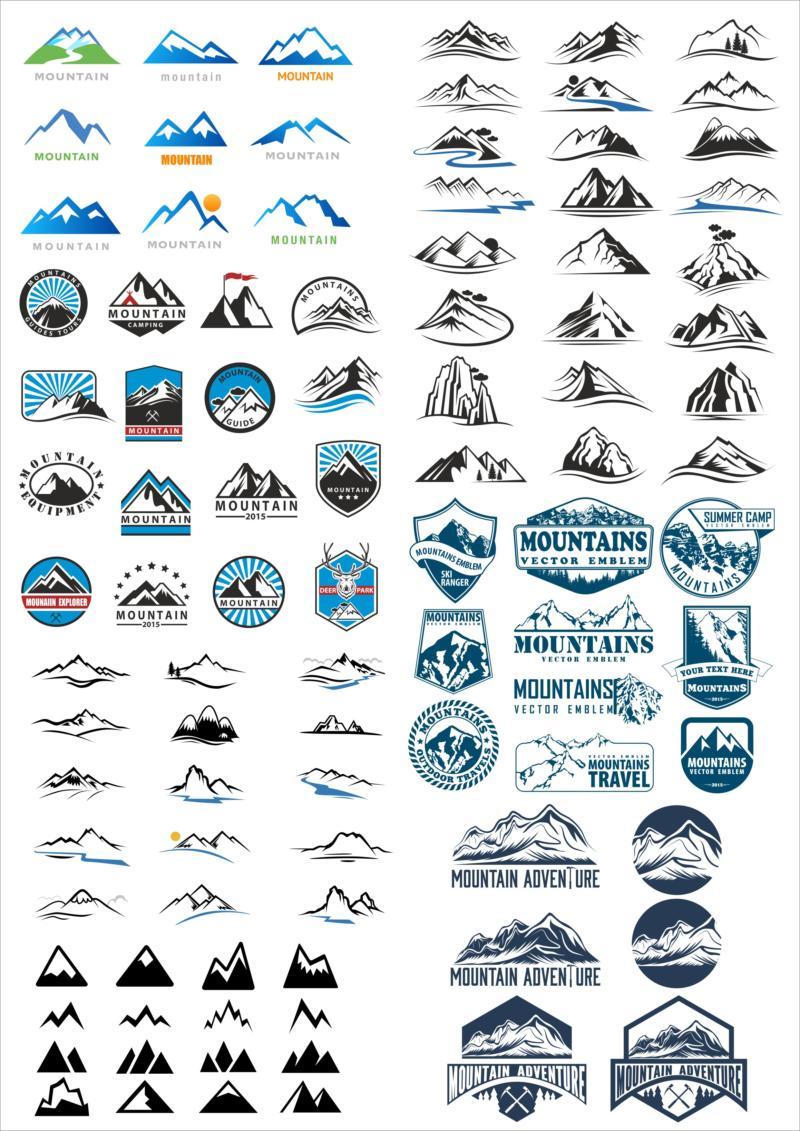 Logos Vector Mountains Download Free CDR Vectors Art