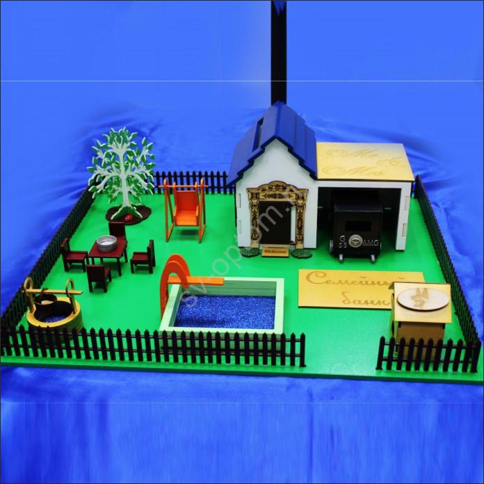 Model For Laser Cutting Mini House Money Box Free CDR Vectors Art