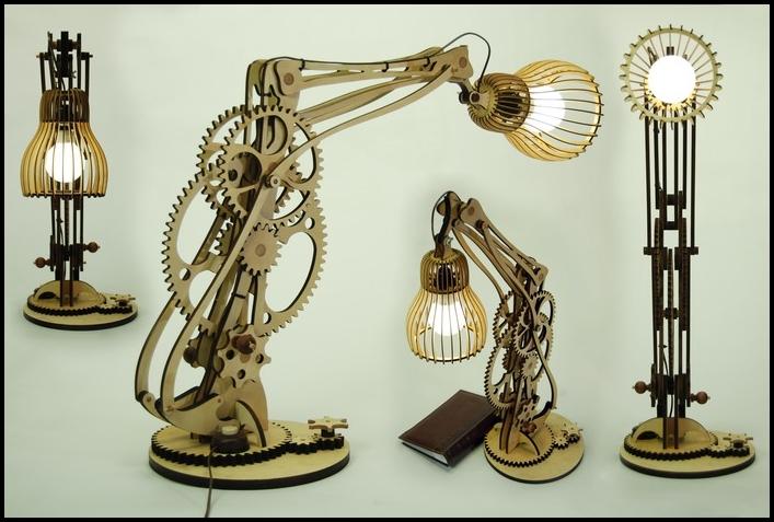 Model Of The Table Lamp Mehanograf Free CDR Vectors Art