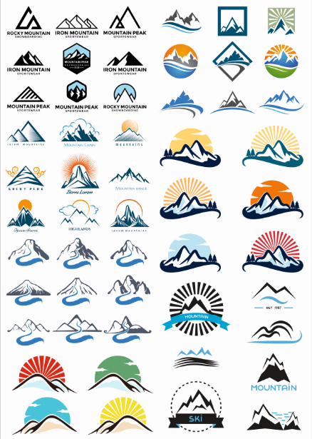Thumbnail Logo For The Theme Mountains Free CDR Vectors Art
