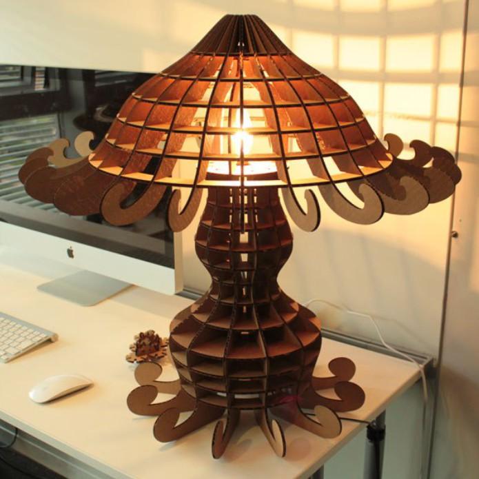 "Vector Layout Of A Table Lamp ""medusa"" Free CDR Vectors Art"