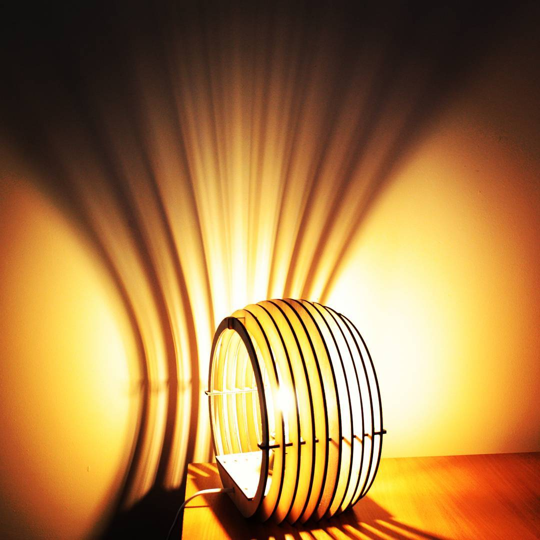 """Vector Layout Of A Table Lamp """"sphere"""" Free CDR Vectors Art"""