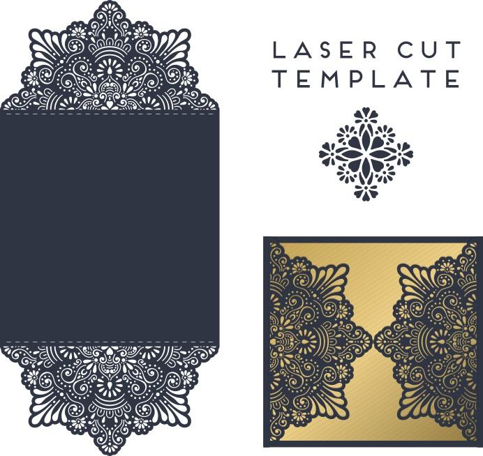 Vector Template Of The Envelope 006 Free CDR Vectors Art