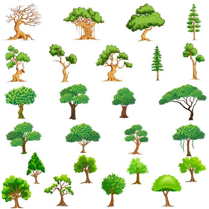 Vector Trees Collection 2 Free CDR Vectors Art