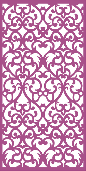 Abstract Laser Cut Panel Pattern Floral Free CDR Vectors Art