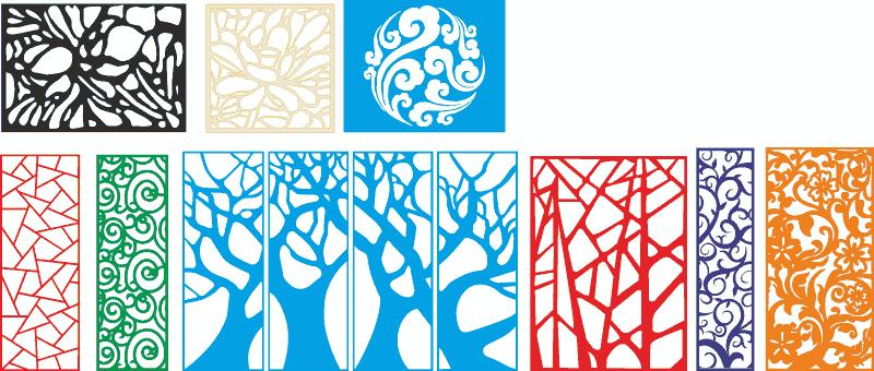 Tree style decorative lattice for cnc Free CDR Vectors Art