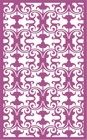 Decorative Screens LaserCut Pattern Free CDR Vectors Art