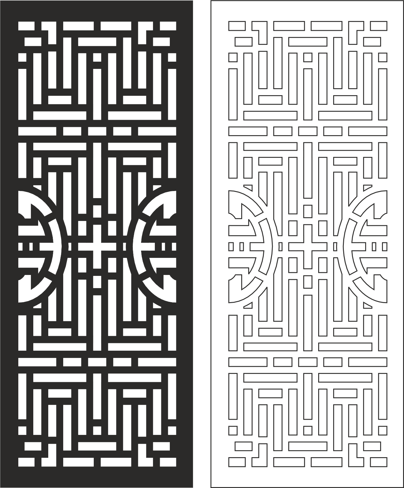 Carved Wood Partition Design Free CDR Vectors Art