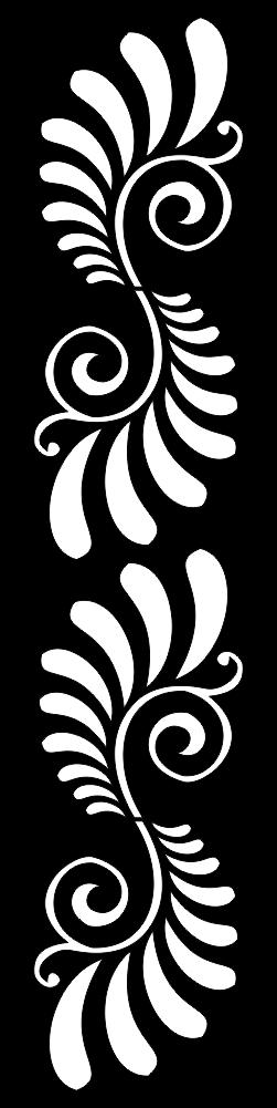 White Color Symmetrical Pattern Free CDR Vectors Art