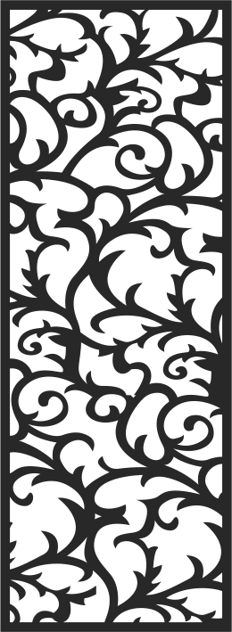 Floral Seamless Swirl Free CDR Vectors Art