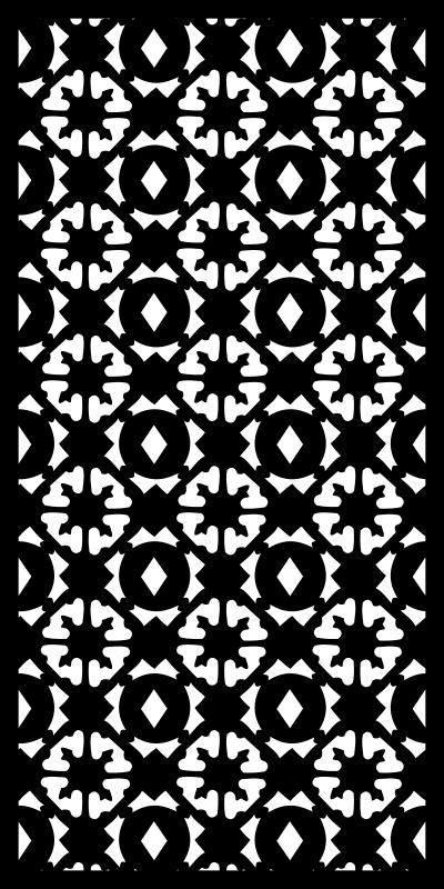 Floral Mosaic Vector Pattern Free CDR Vectors Art