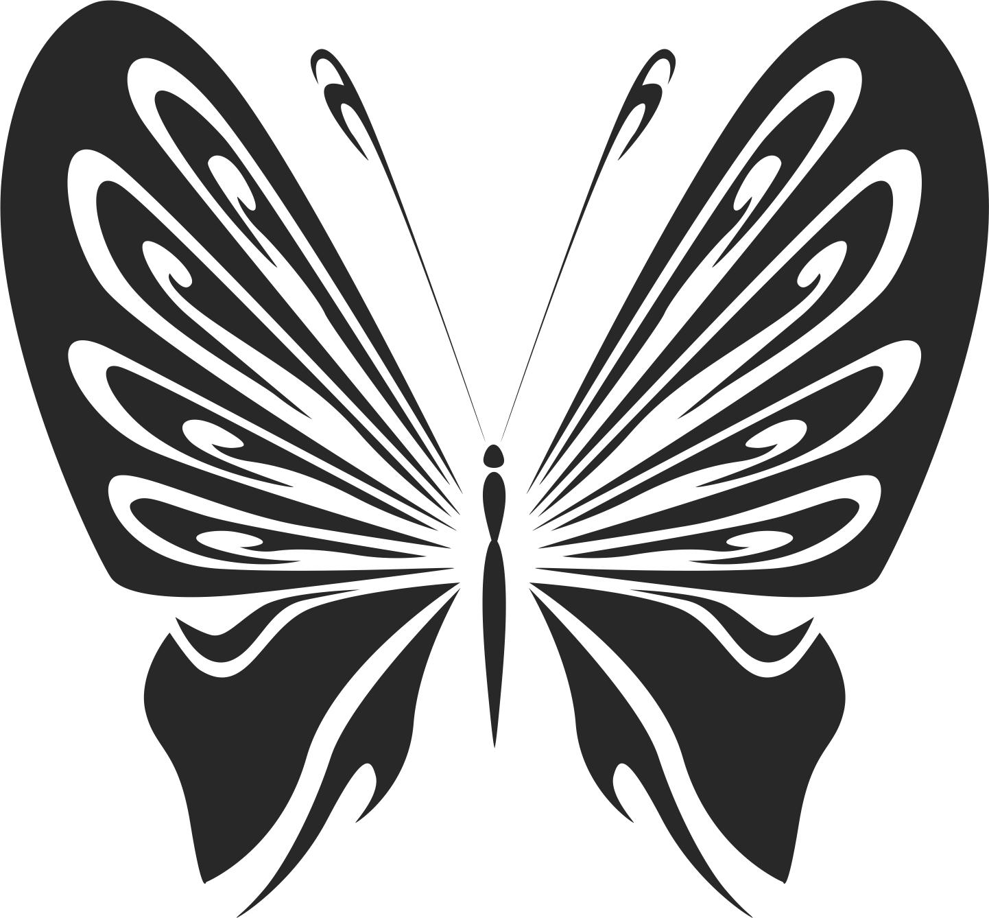 Vintage Butterfly Stencils Free CDR Vectors Art