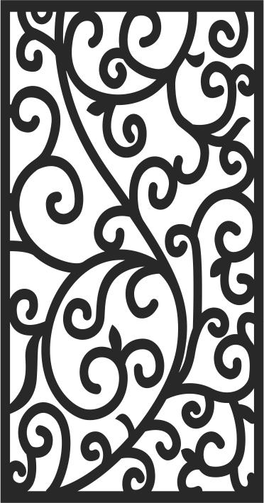 Floral screen Pattern Free CDR Vectors Art