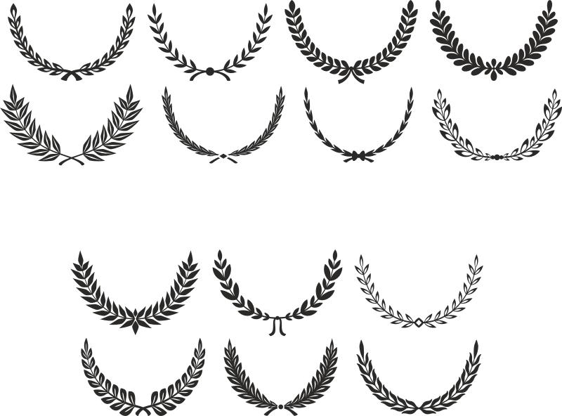 Digital Laurel Wreath laurel Clip Art Free CDR Vectors Art