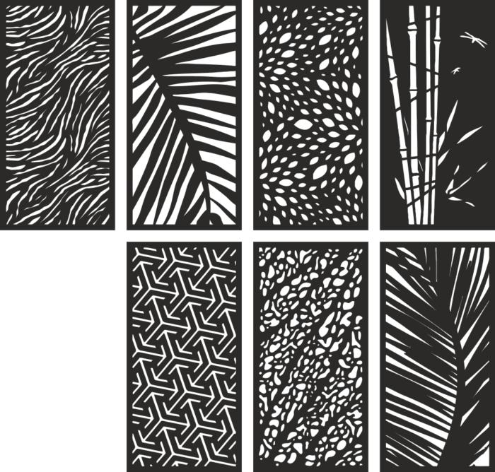 7 Lattice Screens Free CDR Vectors Art