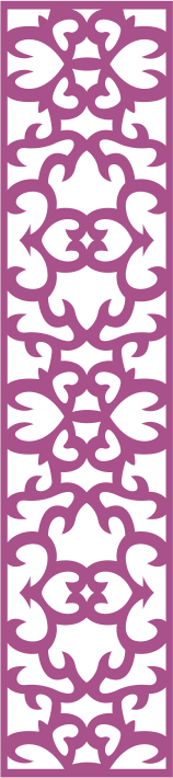 Laser Cut Floral Panel Seamless Free CDR Vectors Art
