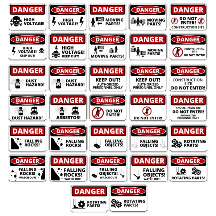 Danger sticker Free CDR Vectors Art