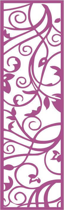 LaserCut Flower Panel Seamless Free CDR Vectors Art